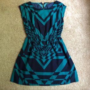 Aqua & Navy Dress